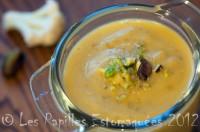 Soupe chou fleur pistache