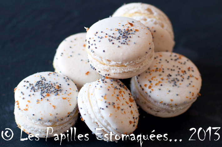 Macarons orange pavot 03
