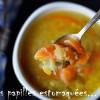 Soupe legumes racines en vermicelles