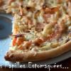 Pizza chou carotte oignon creme poitrine fumee