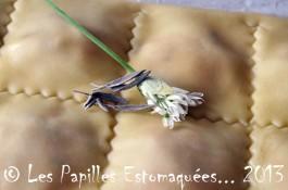 Raviolis courge ail des ours lardon sauge 02 Les Papilles Estomaquees