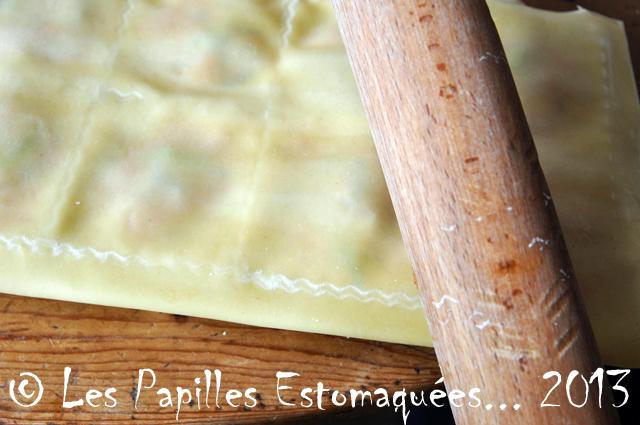 Raviolis courge ail des ours lardon sauge 05 Les Papilles Estomaquees
