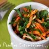 Salade ail des ours carotte herbes celeri 01
