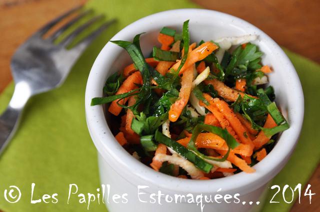 recette rapide salade de carottes et d 39 ail des ours les papilles estomaqu es les papilles. Black Bedroom Furniture Sets. Home Design Ideas