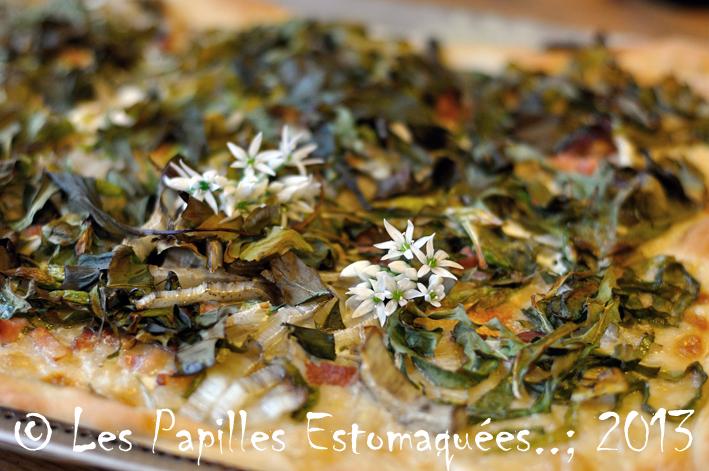 Pizza aux blettes et l 39 ail des ours les papilles - Comment cuisiner les feuilles de blettes ...