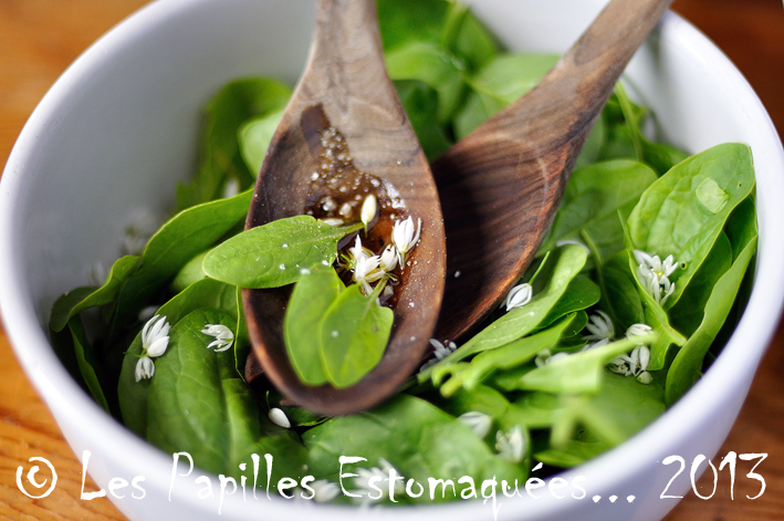 Salade epinards ail des ours
