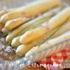 Asperges huile olive et fleurs ciboulette