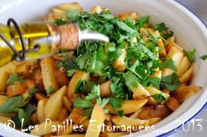 Frites de pomme de terre persil ail paprika 02