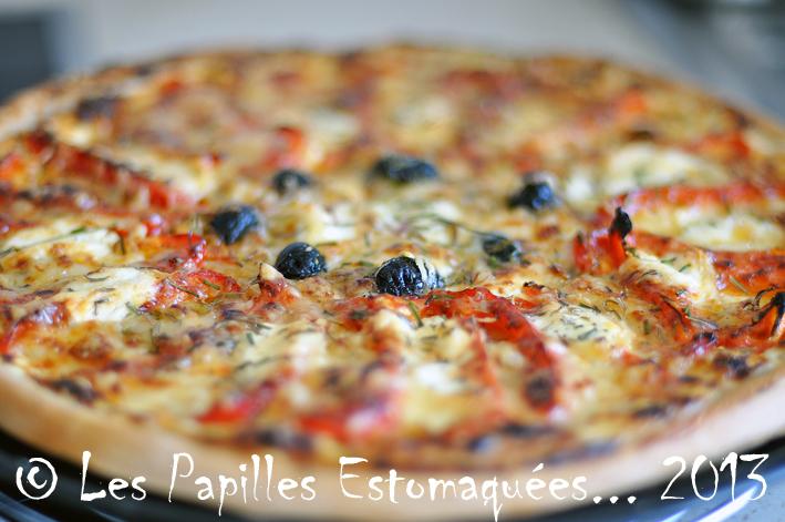 Pizza oignons poivrons ciboulette 01