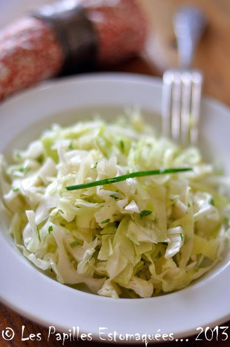 Salade de chou pointu et ciboulette
