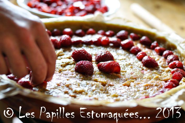 Tarte rhubarbe fraise crumble pistache menthe graines courge 05