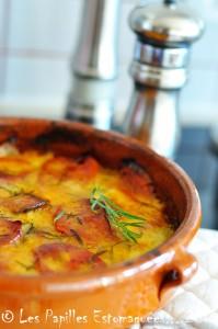 Casserole tomates courgettes oignon estragon mozzarella 02