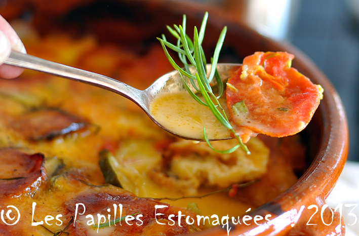 Casserole tomates courgettes oignon estragon mozzarella 03