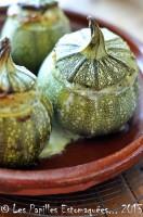 Courgettes rondes farcies au quinoa fromage et pignons - Comment cuisiner les courgettes rondes ...