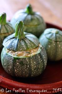 Courgettes rondes farcies quinoa pignons chevre ciboulette 02
