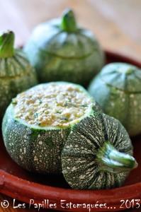 Courgettes rondes farcies quinoa pignons chevre ciboulette 03