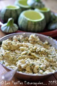 Courgettes rondes farcies quinoa pignons chevre ciboulette 05