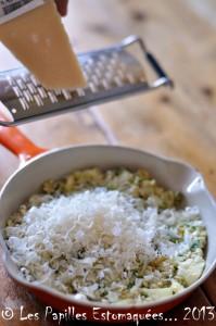 Courgettes rondes farcies quinoa pignons chevre ciboulette 06