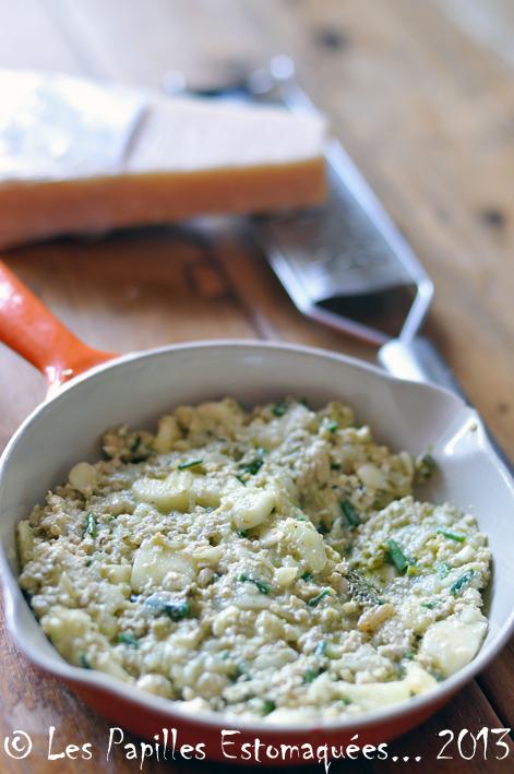 Courgettes rondes farcies quinoa pignons chevre ciboulette 07