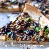 Pizza blanche chanterelles ail persil