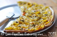 Pizza moutarde sarriette tomates cerises