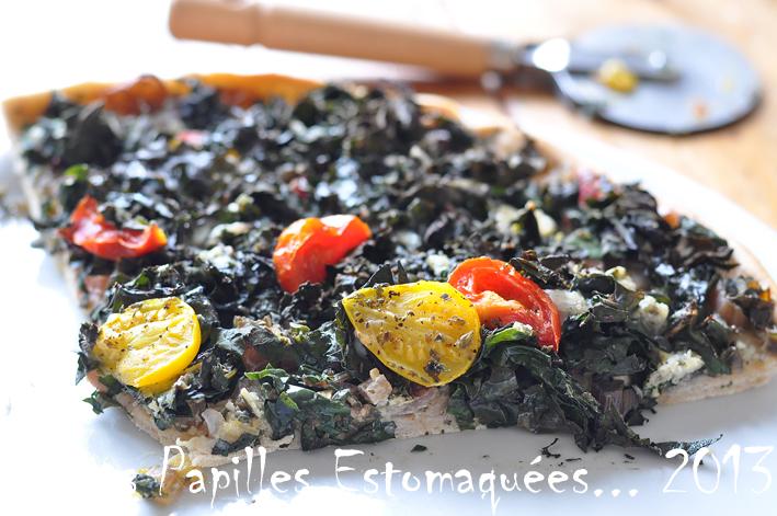 Pizza oignon bette roquefort graines marjolaine 01