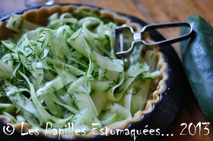 Tarte concombre feta roquefort pavot aneth ciboulette fleur 01