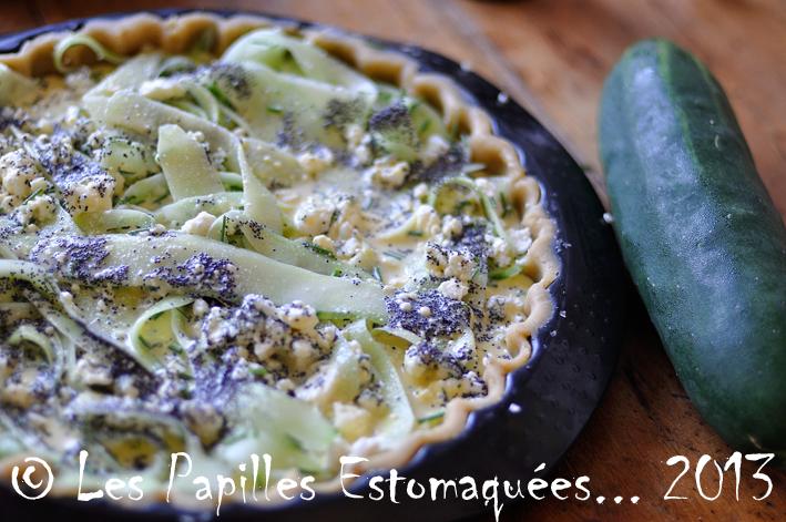 Tarte concombre feta roquefort pavot aneth ciboulette fleur 02