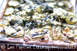 Pizza courgette oignon bette chevre 04