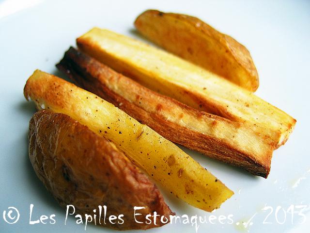 frites de panais et pommes de terre à la noix de muscade | les