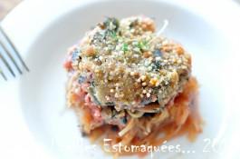 Gratin de courge spaghetti tomat e aux boutons d 39 ail des ours au vinaigre et aux bettes la - Comment cuisiner courge spaghetti ...