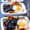 Oeuf sur nid de pain de mie et de bettes aux champignons 02