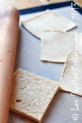 Oeuf sur nid de pain de mie et de bettes aux champignons 07