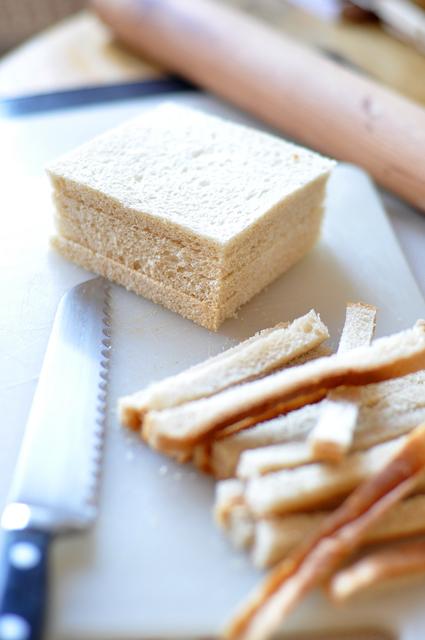 Oeuf sur nid de pain de mie et de bettes aux champignons 09
