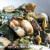 Poelee bette champignon