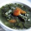 Soupe fanes de bettes et carottes