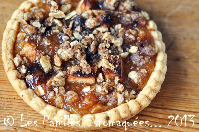 Tartelettes aux pommes et crumble avoine 01