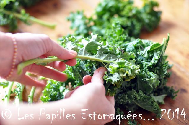 Chou vert frise kale preparation 05