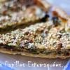 Tarte aux fanes de betteraves, crumble noisettes et quinoa