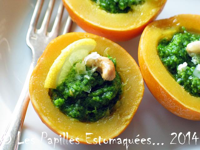 Courge pomme d or au pesto de chou kale 01