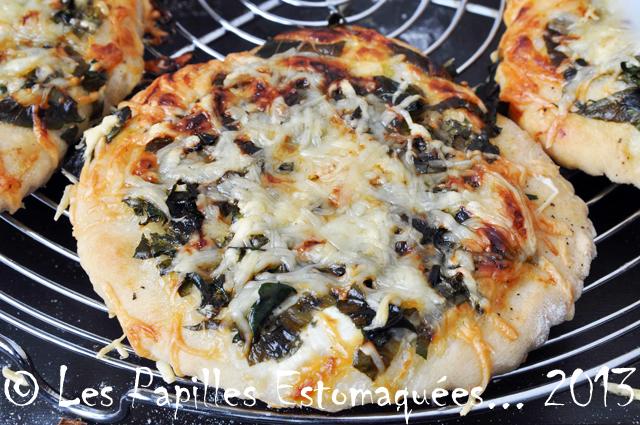 Pizza fane de chou rave pesto ail des ours 02