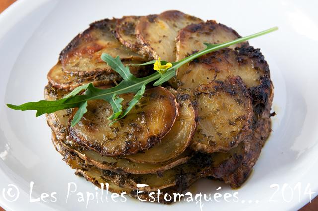 Pommes de terre au pesto de roquette