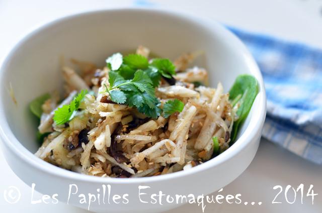 Salade radis japonais et pourpier 01