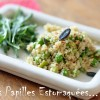 Salade quinoa feves pois roquette graines