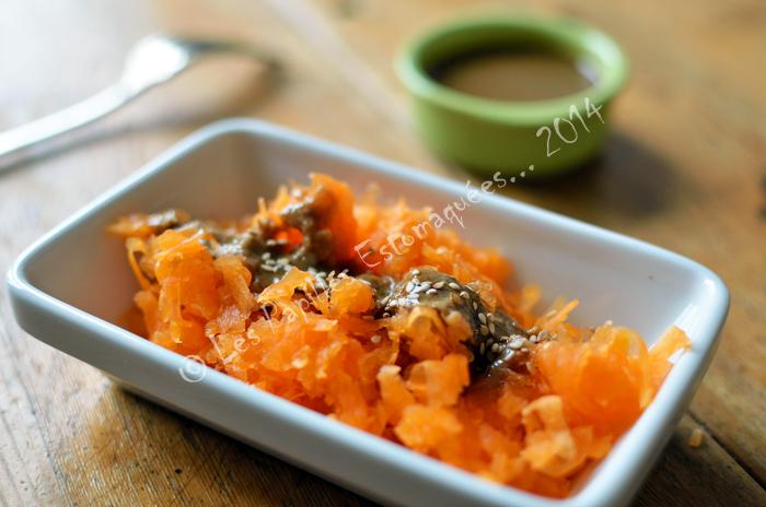 Salade courge sesame ciboulette tahin et tamari 02