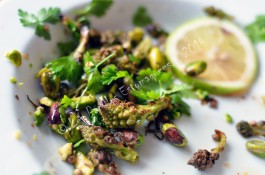 Salade roti chou romanesco pistache asiatique 02