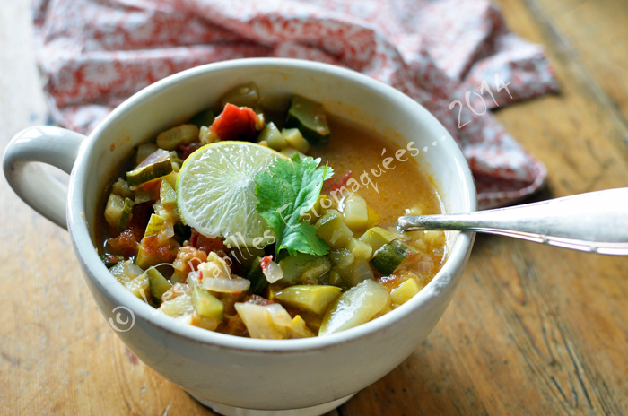 Soupe courge epices