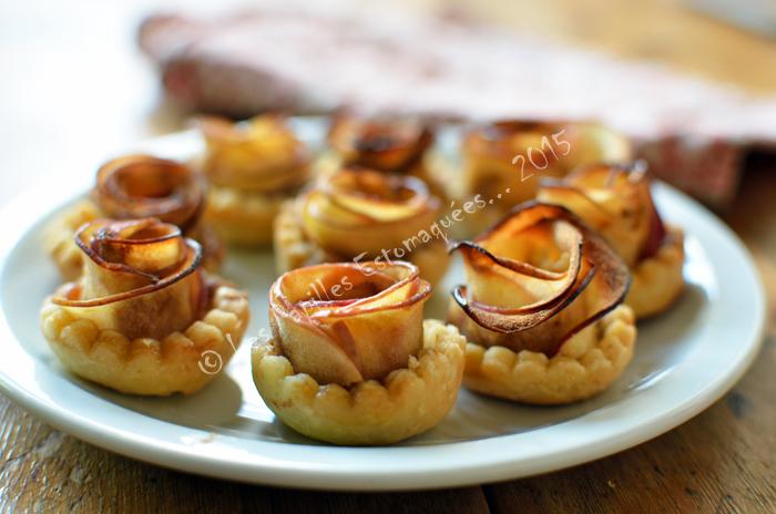 Tartelettes aux pommes en forme de rose 01
