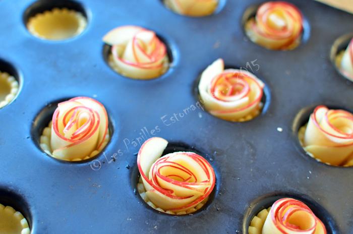 Tartelettes aux pommes en forme de rose 02