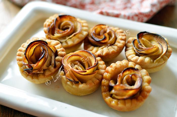Tartelettes aux pommes en forme de rose 03